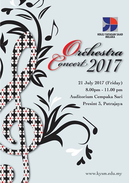 We are pleased to share that Kolej Yayasan Saad will be staging an orchestra concert for the parents of the school and the public as follows